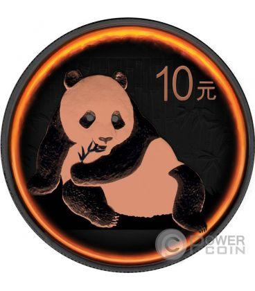PANDA Eclipse of the Sun 1 Oz Silver Coin 10 Yuan China 2015