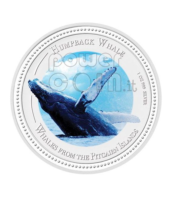 HUMPBACK WHALE Moneda Plata Proof 2$ Pitcairn Islands 2009