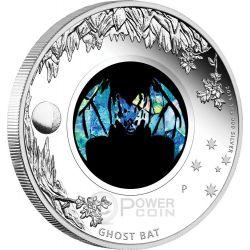 GHOST BAT Pipistrello Fantasma Opal Serie Opale Moneta Argento 1$ Australia 2015