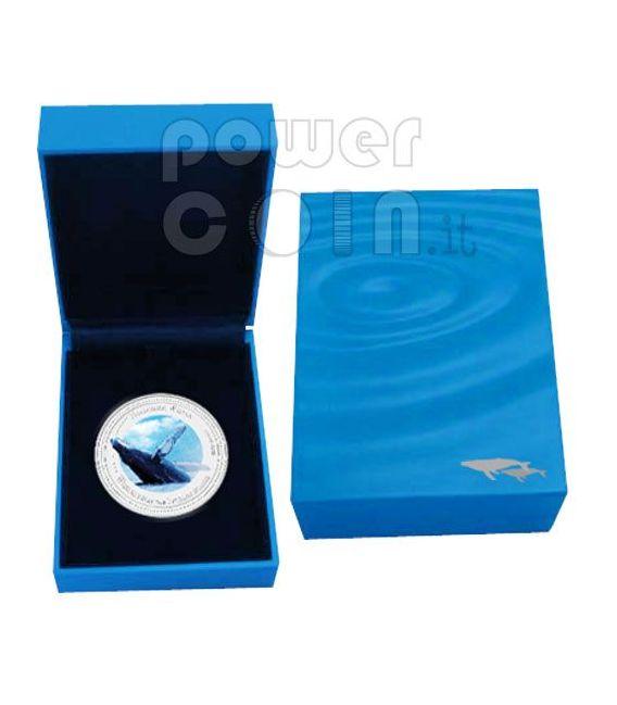 HUMPBACK WHALE Balena Megattera Moneta Argento 2$ Pitcairn Islands 2009