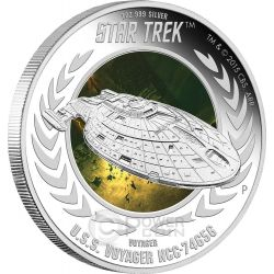 U.S.S. VOYAGER NCC-74656 Astronave Star Trek Moneta Argento 1$ Tuvalu 2015