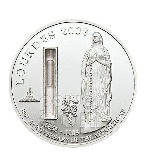 LOURDES Acqua Della Fonte Moneta Argento 1$ Palau 2008
