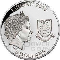 COINS FROM THE CRIPT R.I.P. Horror Bara Set 4 Monete Argento 5$ Kiribati 2016