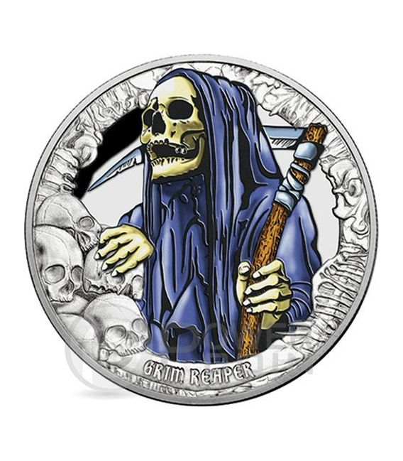 COINS FROM THE CRIPT R.I.P. Horror Tales Coffin Shaped Timber Set 4 Silber Münze 5$ Kiribati 2016