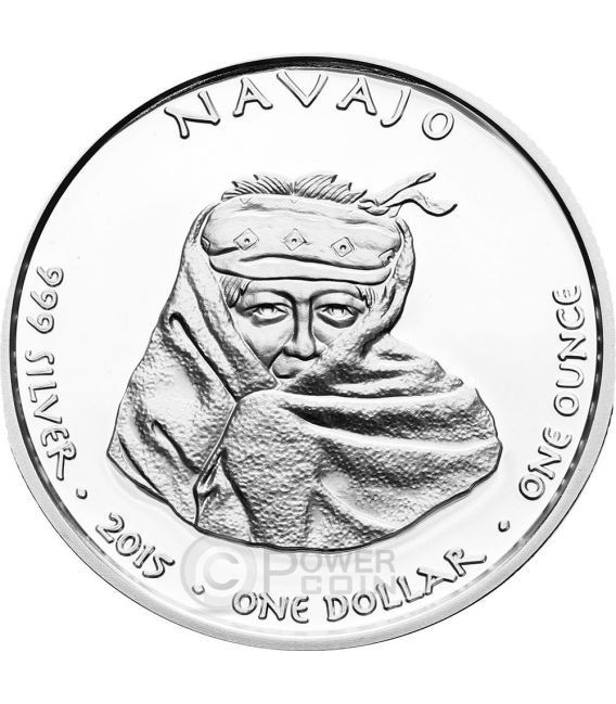 NEW MEXICO NAVAJO Navaho Cougar Native State 1 Oz Silver Coin 1$ Dollar Jamul 2015