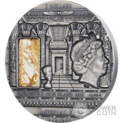 EGYPT Imperial Art Egitto Cristallo Citrino 2 Oz Moneta Argento 2$ Niue 2015