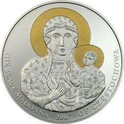 MADONNA NERA DI CZESTOCHOWA Moneta Argento 5$ Liberia 2007