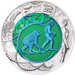 EVOLUTION Niobium Silver Bimetallic Coin 25€ Euro Austria 2014