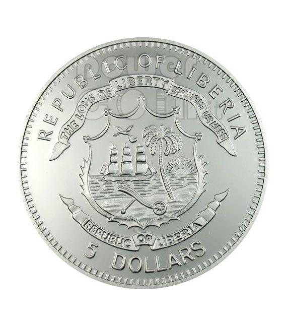 BLACK MADONNA OF CZESTOCHOWA Moneda Plata 5$ Liberia 2007