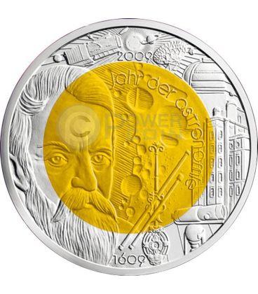 ASTRONOMY Niobium Silver Bimetallic Coin 25€ Euro Austria 2009