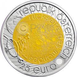 ASTRONOMY Niobium Серебро Bimetallic Монета 25€ Euro Австрия 2009
