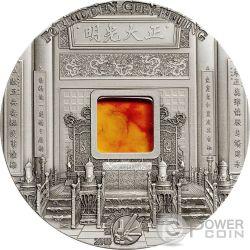 FORBIDDEN CITY BEIJING Pechino Mineral Art Ambra Moneta Argento 2 Oz 10$ Palau 2015