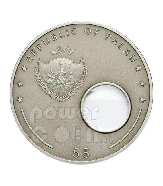HUBBLE Telescope Invention 400th Anniversary Moneda Plata 5$ Palau 2008
