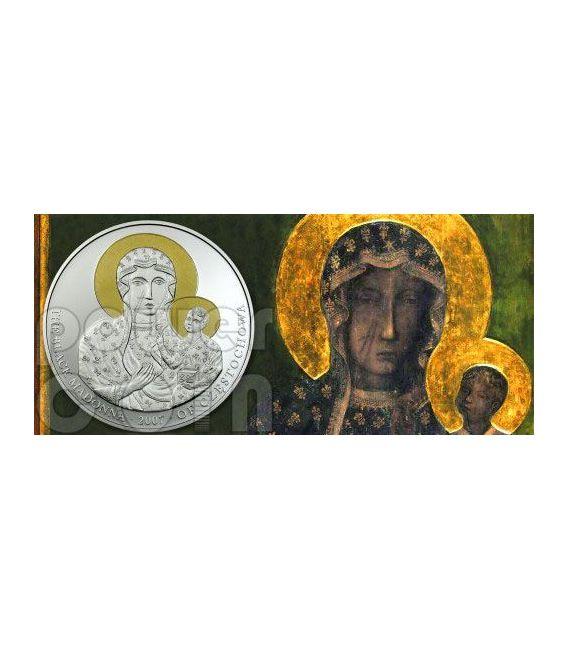 BLACK MADONNA OF CZESTOCHOWA Silver Coin 5$ Liberia 2007