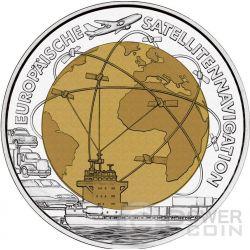 EUROPEAN SATELLITE NAVIGATION Niobium Plata Bimetallic Moneda 25€ Euro Austria 2006