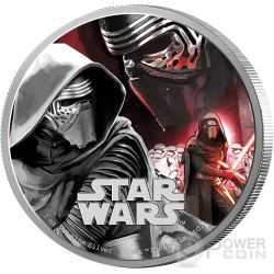KYLO REN Star Wars The Force Awakens 1 oz Silver Proof Coin 2$ Niue 2016