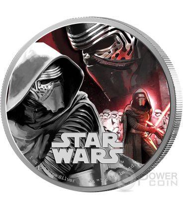 KYLO REN Il Risveglio Della Forza Star Wars The Force Awakens 1 oz Moneta Argento 2$ Niue 2016