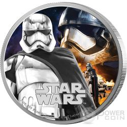 CAPTAIN PHASMA Il Risveglio Della Forza Star Wars The Force Awakens 1 oz Moneta Argento 2$ Niue 2016