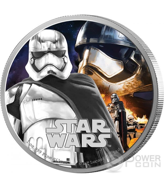 Captain Phasma Star Wars The Force Awakens 1 Oz Silver