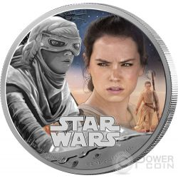 REY Star Wars The Force Awakens 1 oz Silver Proof Coin 2$ Niue 2016