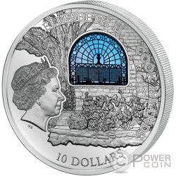 WINDOWS OF HEAVEN JERUSALEM Dominus Flevit Moneda Plata 10$ Cook Islands 2015