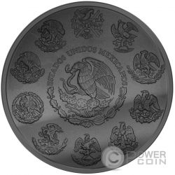 GOLDEN ENIGMA Libertad Black Ruthenium 1 Oz Moneda Plata Mexico 2015