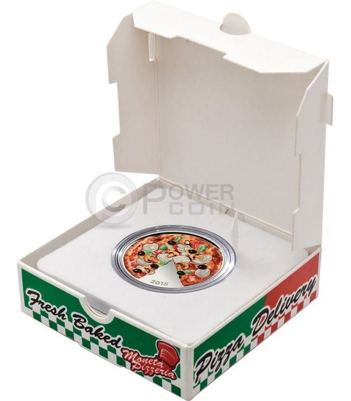 pizza scented smell herbs silver coin 5 solomon islands. Black Bedroom Furniture Sets. Home Design Ideas