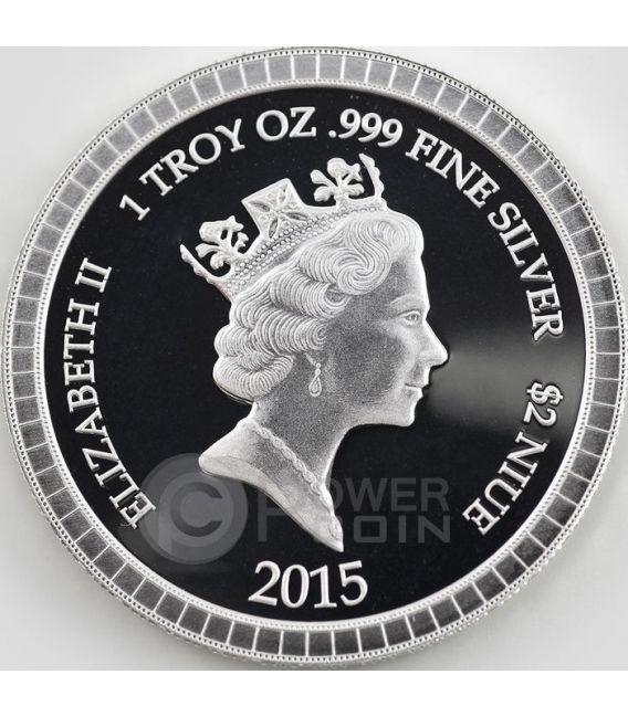 GODFATHER COLLECTIBLE SET New York Mafia 1 Oz Plata 2 Moneda 2$ Niue 2015
