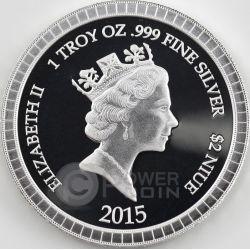 GODFATHER COLLECTIBLE SET New York Mafia 1 Oz Silber 2 Münze 2$ Niue 2015