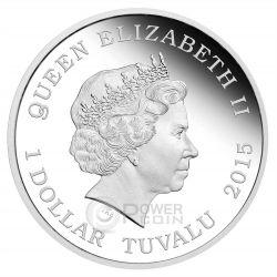 BACK TO THE FUTURE DELOREAN 30th Anniversary 1 Oz Moneda Plata 1$ Tuvalu 2015