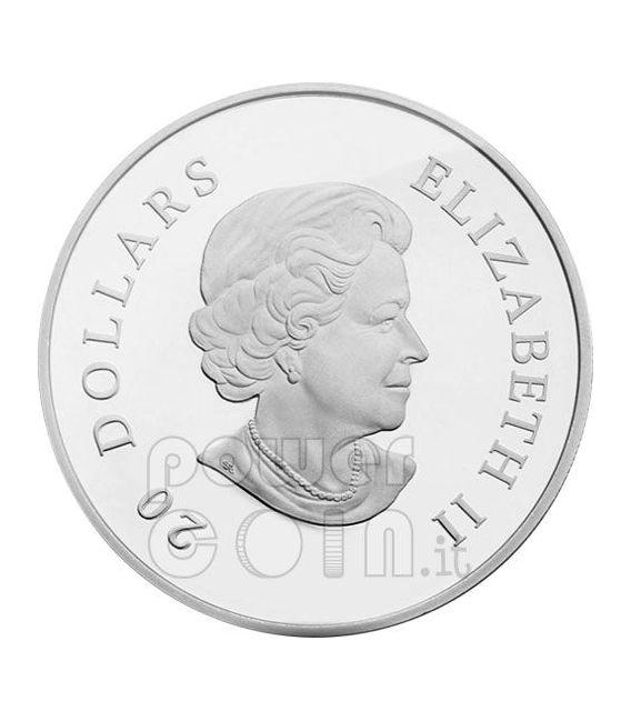 SNOWFLAKE BLUE Silver Coin Swarovski 20$ Canada 2009