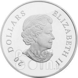 SNOWFLAKE BLUE Moneda Plata Swarovski 20$ Canada 2009