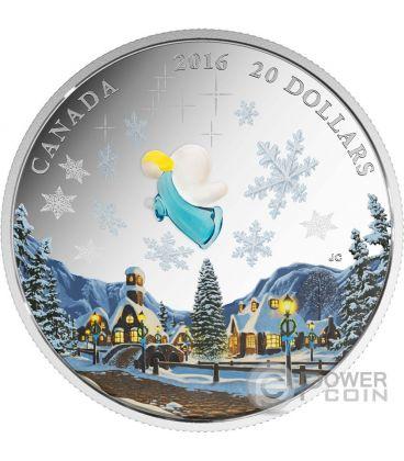 MY ANGEL Murano Venetian Glass Silver Coin 20$ Canada 2016
