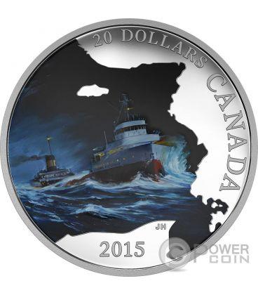 S.S. EDMUND FITZGERALD Navi Perdute Acque Canadesi Moneta Argento 20$ Canada 2015