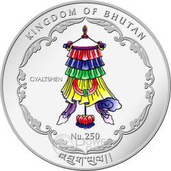 BUDDHA SHAKYAMUNI World Heritage Moneta 1 Oz Argento Bhutan 2015