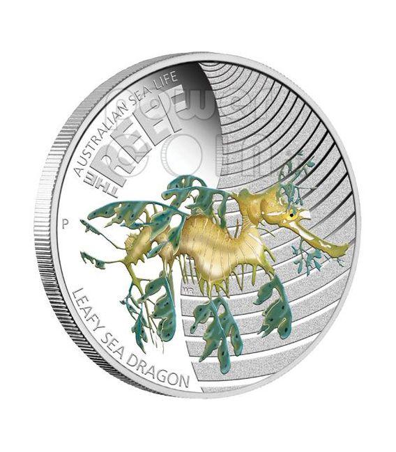 LEAFY DRAGON Fish Australian Sea Life Silver Coin 50c Australia 2009