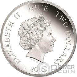HALLOWEEN WITCH Strega Fluorescente Moneta Argento 2$ Niue 2015