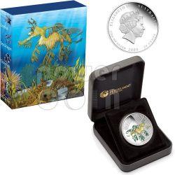 LEAFY DRAGON Fish Australian Sea Life Silber Münze 50c Australia 2009