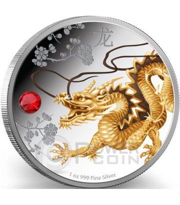 FENG SHUI DRAGON Dragone Creatura Soprannaturale Moneta Argento 2$ Niue 2015