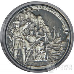 CHRISTOPHER COLUMBUS Journeys Of Discovery 2 oz Silver Coin 5$ Niue 2015