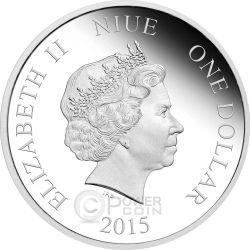 SEASON GREETINGS Christmas Mickey And Friends Disney 1/2 Oz Plata Proof Moneda 1$ Niue 2015