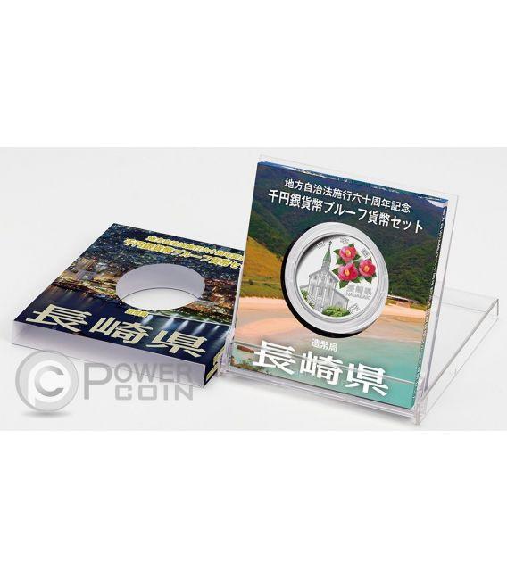 NAGASAKI 47 Prefectures (44) Silber Proof Münze 1000 Yen Japan 2015