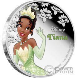 TIANA Disney Princess Principessa 1 oz Moneta Argento 2$ Niue 2015