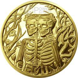 GEMELLI Memento Mori Zodiaco Oroscopo Moneta Oro 2015