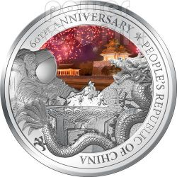 PEOPLE REPUBLIC OF CHINA 60th Anniversary Silver Coin 2USD Niue 2009 ...