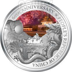 REPUBBLICA POPOLARE CINESE 60 Anniversario RPC Moneta Argento 2$ Niue 2009