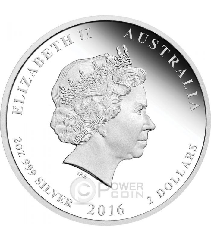 2016 Year of The Monkey Australia 50 Cent Silver Proof Coin 1//2 oz