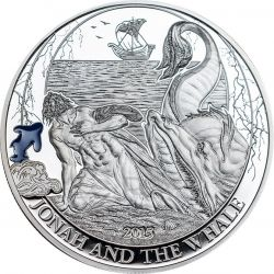 JONAH AND THE WHALE Biblical Stories Silber Münze 2$ Palau 2015
