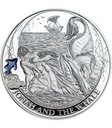 JONAH AND THE WHALE Biblical Stories Silver Coin 2$ Palau 2015