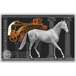AKHAL TEKE Horses Breeds Silber Münze Belarus 2011